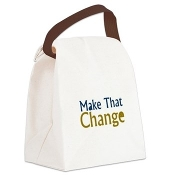 MAKE THAT CHANGE™ Canvas Lunch Bag