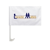CHARACTER MATTERS® Car Window Flag